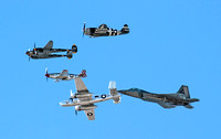 Heritage Flight B-25, P-38, P-47, P-51, F-22